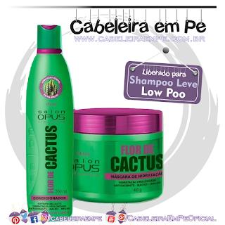 Condicionador e Máscara Flor De Cactus - Salon Opus (Low Poo)