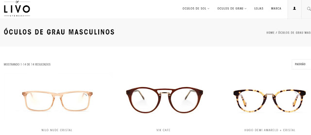 2d6a5b87b5615 Marca própria de Óculos, traz diversas opções em Óculos de Grau Masculino,  um pouco mais ousada, com modelos mais diferenciados do que as outras ...