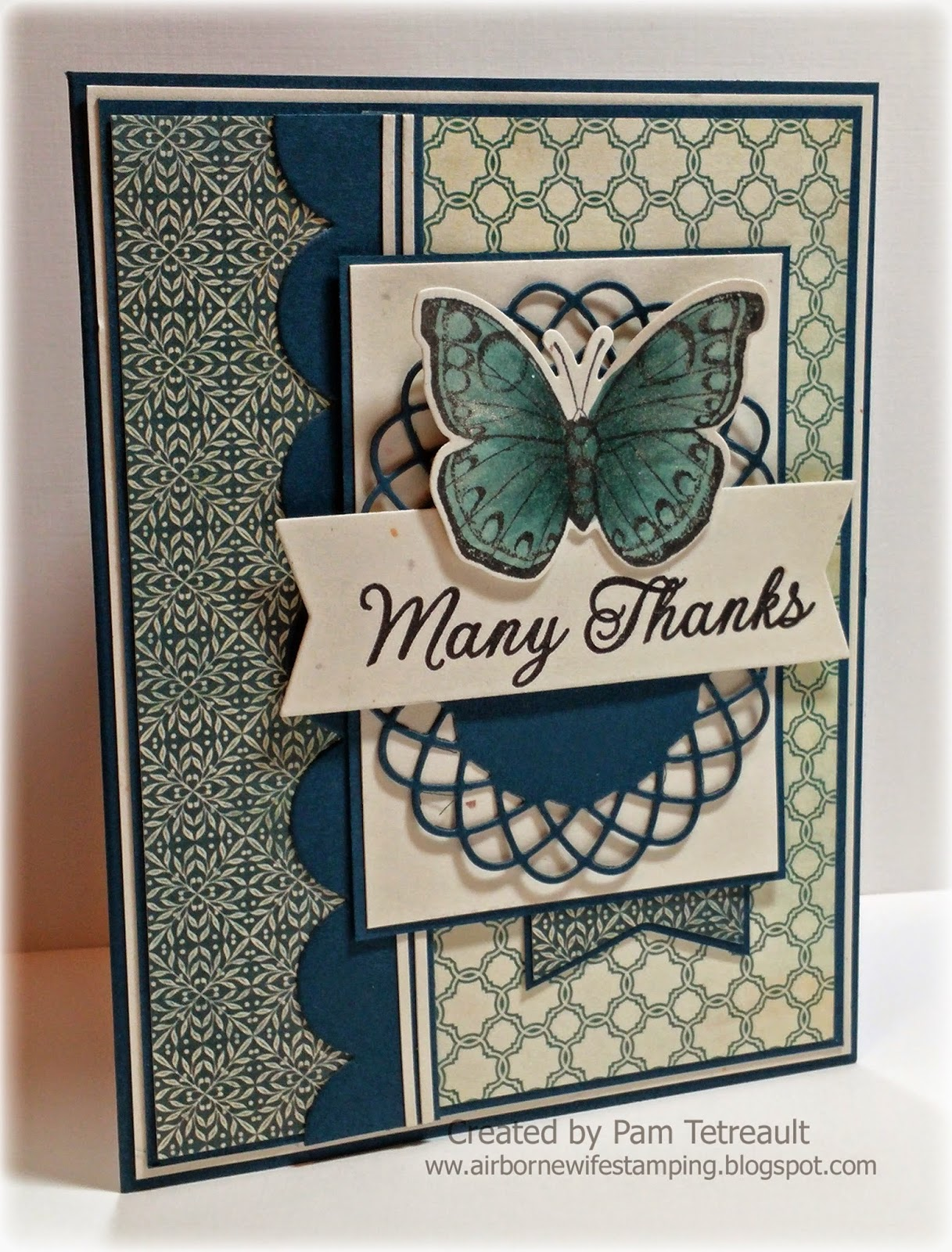 "Airbornewife's Stamping Spot: DS192 ""MANY THANKS"