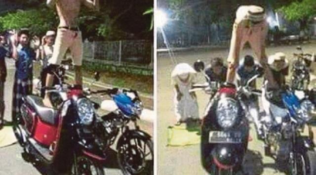 Persenda Agama: Solat Atas Jalan Raya, Imam Atas Motorsikal