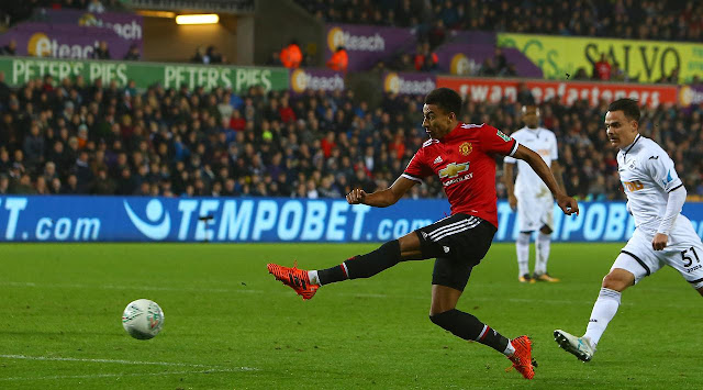 Gelandang Manchester United, Jesse Lingard