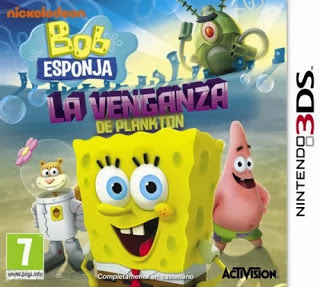 Bob Esponja - La Venganza de Plankton, 3ds, español, mega