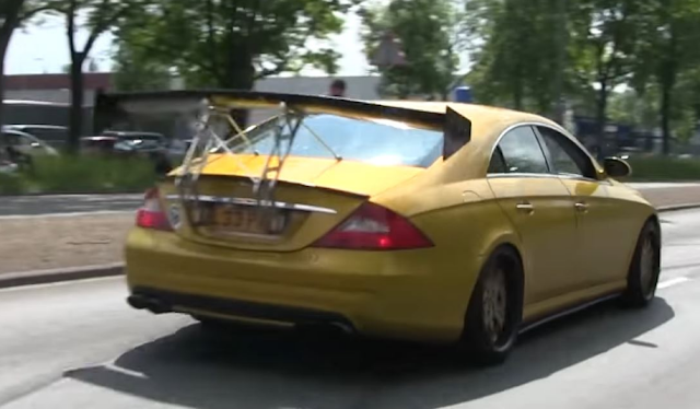 2018 Redesign Old Mercedes-Benz CLS55 AMG Has Crazy Huge Wing