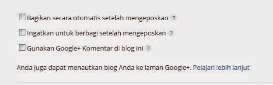 opsi tampilkan kolom komentar Google+
