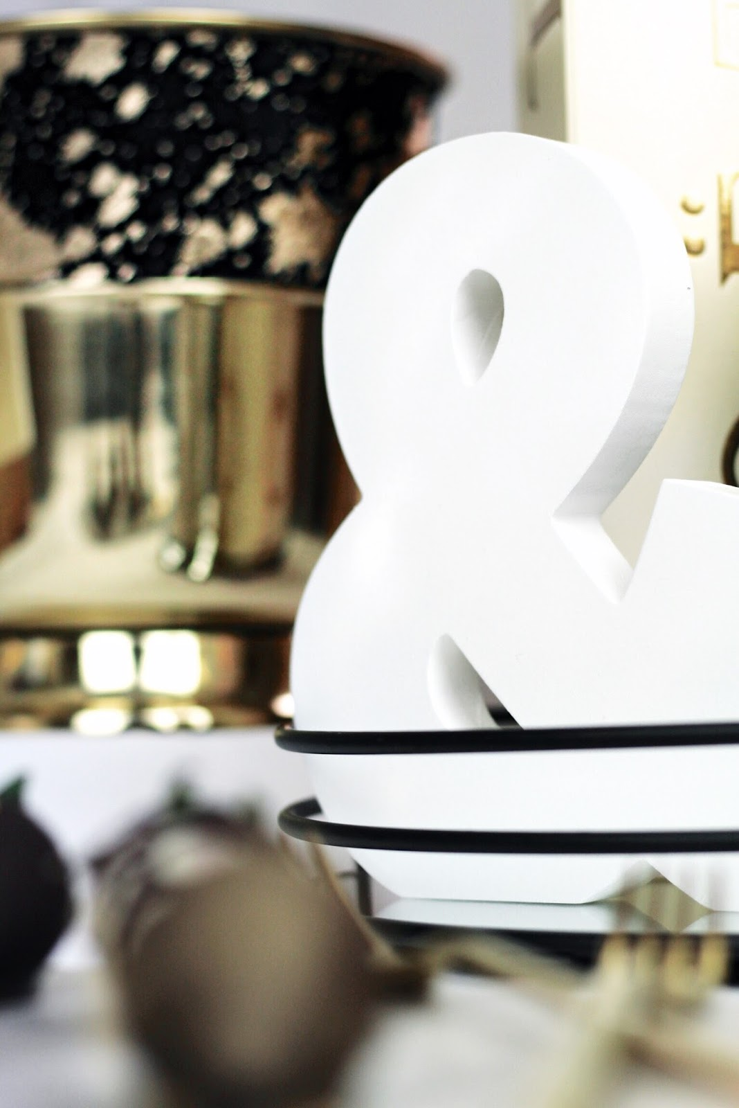 Large White Ampersand Home Decor