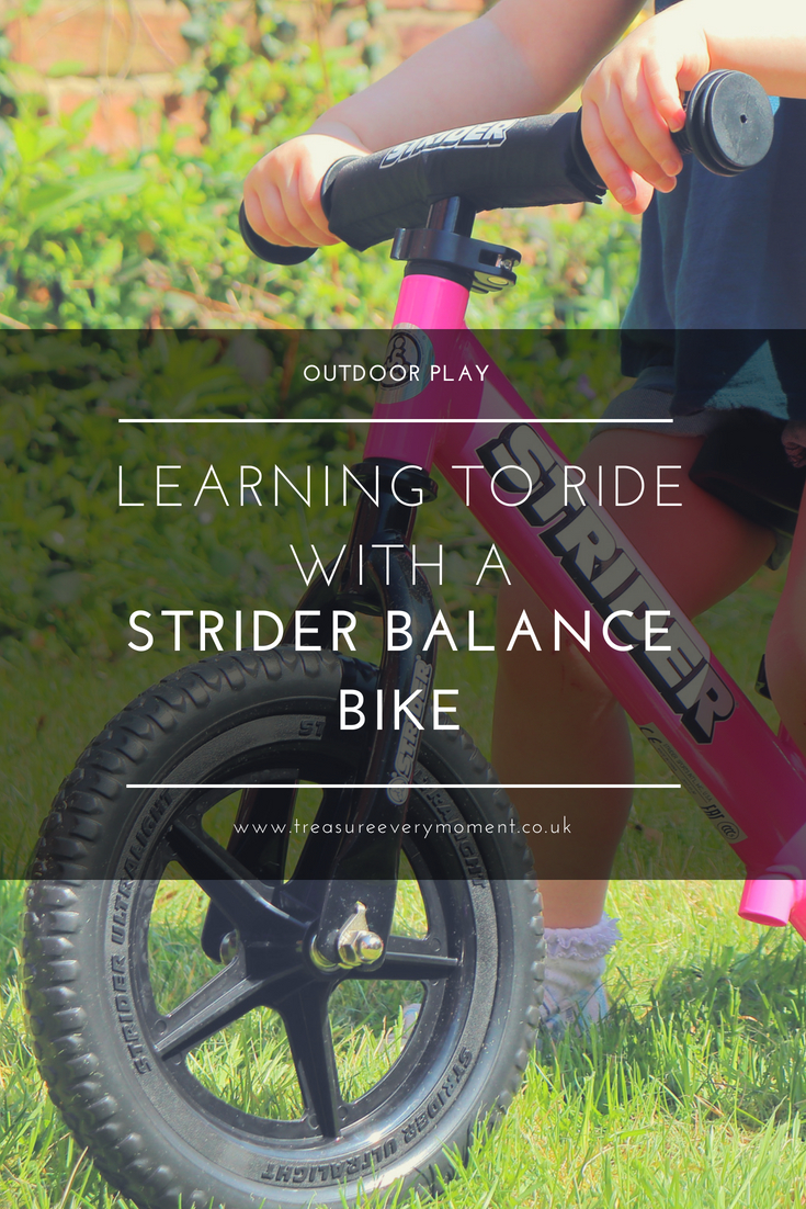 OUTDOOR PLAY: Learning to ride with a Strider Balance Bike