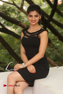 Actress Kamna Ranwat  Pictures in Black Short Dress at Selfie Raja Interview  0252.JPG