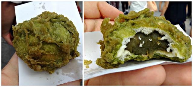 Manju frito de té verde Matcha