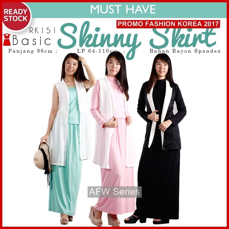 BAMFGW156 Basic Skinny Skirt Wanita PROMO BMG