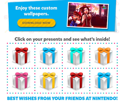 Nintendo birthday presents e-mail marketing gift boxes