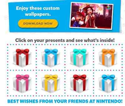 Nintendo birthday presents e-mail marketing gift boxes
