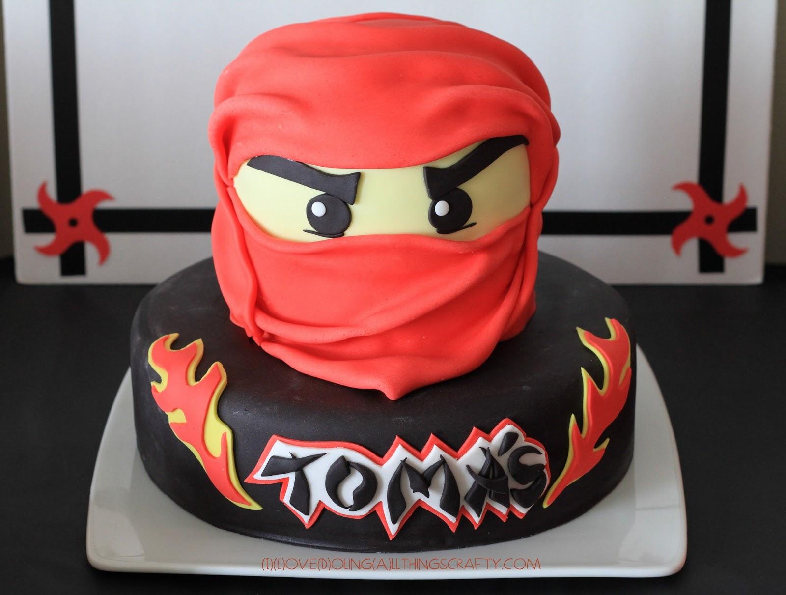 I Love Doing All Things Crafty Ninjago Birthday Cake