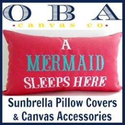 Sunbrella Pillow Covers Coastal and Mermaid Theme
