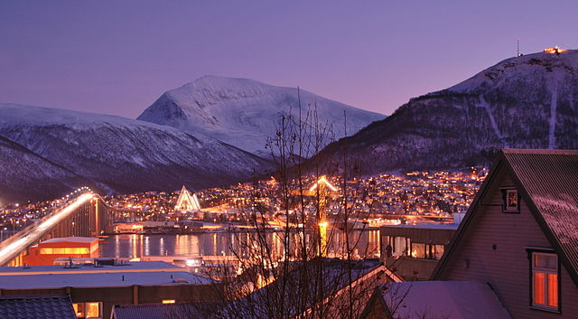 Tromso in the night