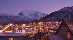 Tromso in the night