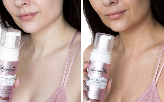 Loving Tan Deluxe Bronzing Mousse Dark Review Before After Pale Skin