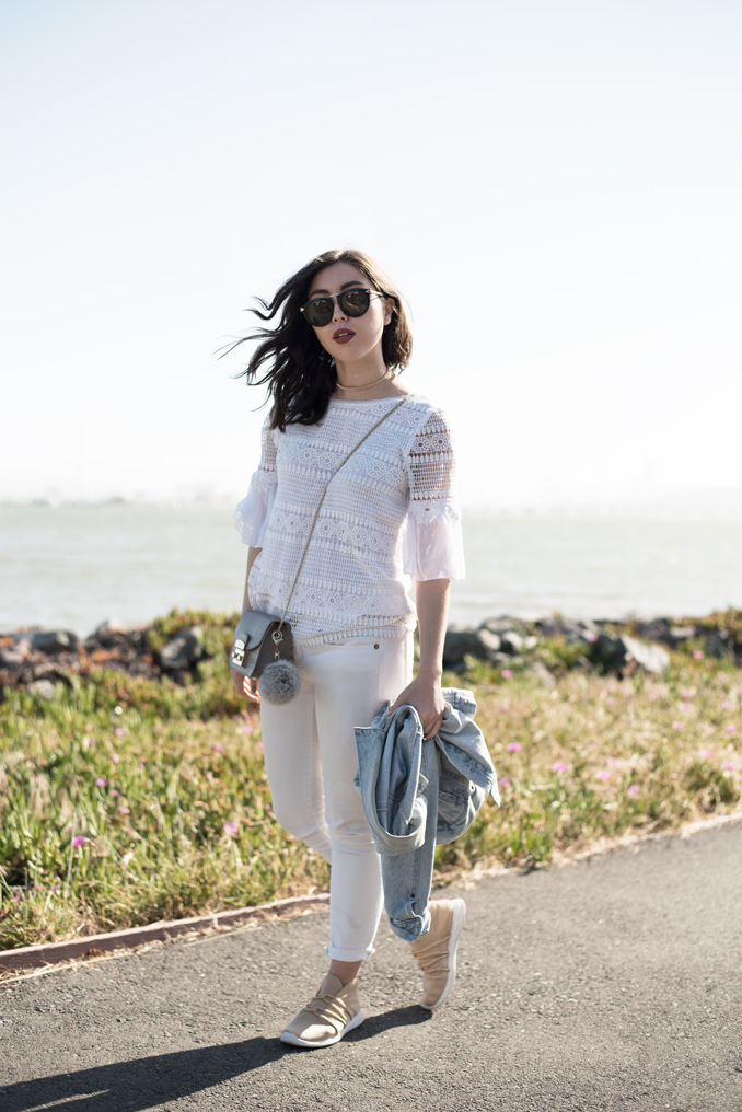 ReadyTwoWear: All white casual spring outfit