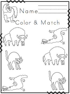 Animals From Head To Toe Printables