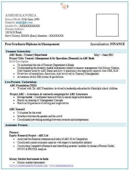 sample mba fresher resume format 100 sample mba resume hr essays