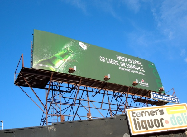 When in Rome Heineken Star Bottle billboard