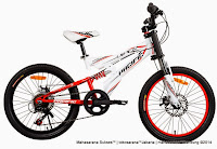 Sepeda Gunung Remaja Pacific Viper 6 Speed Full Suspension 20 Inci White Red