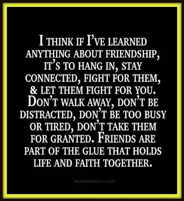 Quotes About Walking Away From Friendship: i think if I've learned anything about friendship, it's to hang in,