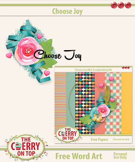 Choose Joy Word Art Freebie