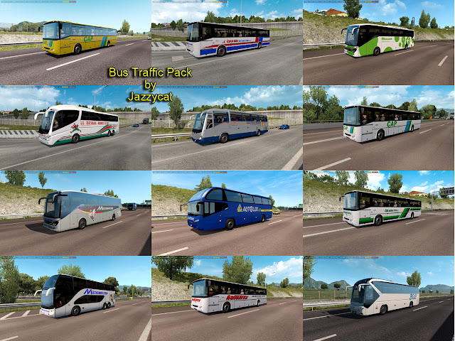ets 2 bus traffic pack v6.4 screenshots 1, CAP, Čsad Bus, Flibco, Le Basque Bondissant, Mückenhausen, Autolux, Wante