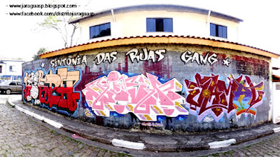 Grafite em uma das seis ruas da Vila Nossa Senhora da Conceição