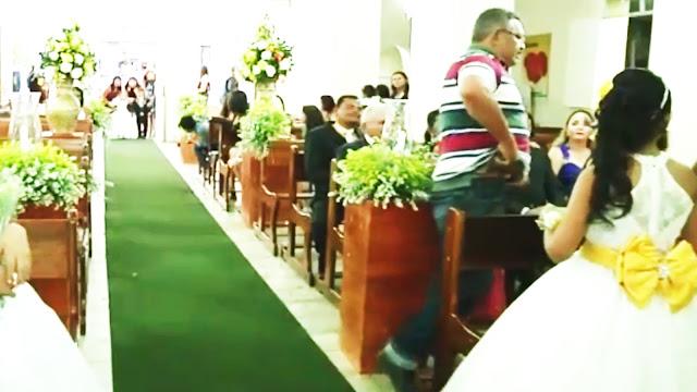 Vídeo mostra momento em que homem invade casamento e atira em duas pessoas em AL