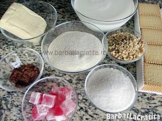 Prajitura cu biscuiti si crema de gris ingrediente reteta