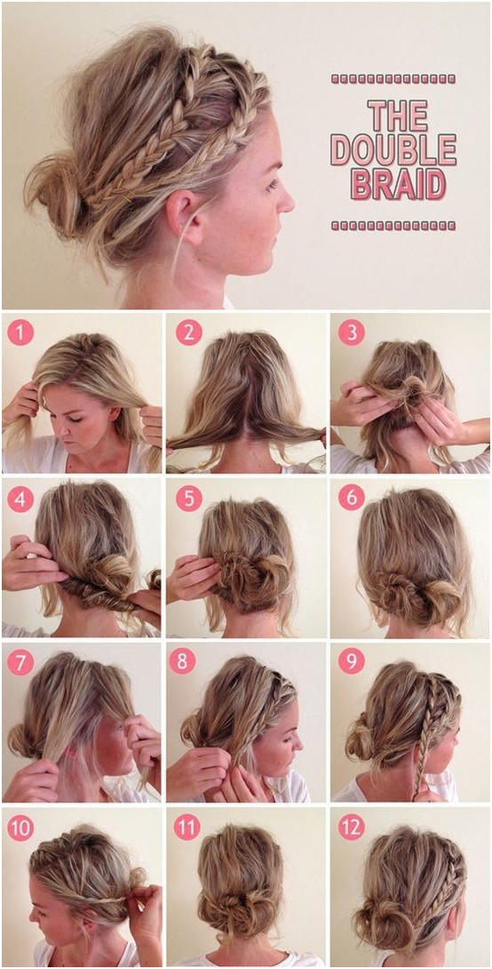diy messy hair bun step by step