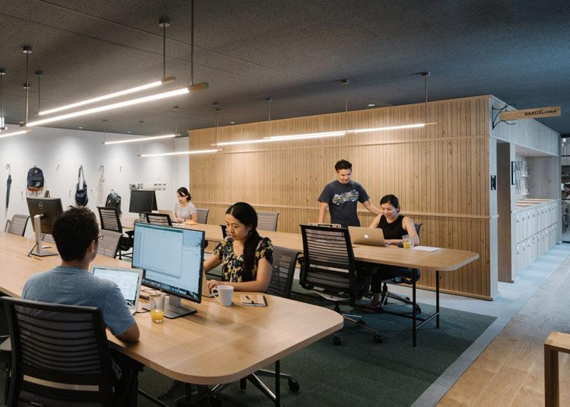 Thiết kế Văn phòng đẹp ở Tokyo thiết kế ấm áp như một căn nhà