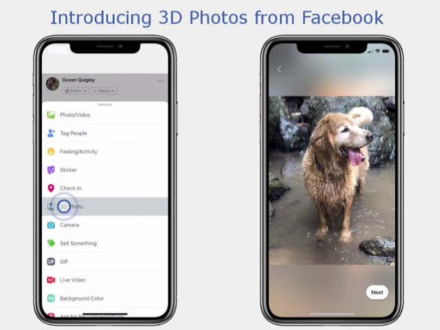 Facebook officially announces its support for 3D imagery in its social network