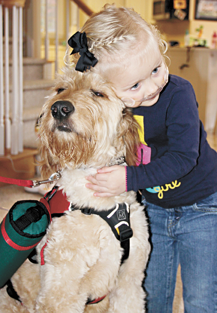 Dog Carries Air Tanks For Child With Rare Disease