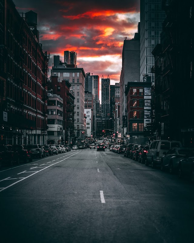 Photography of Roadway During Dusk by Jiarong Deng (((STREET PHOTOGRAPHY)))
