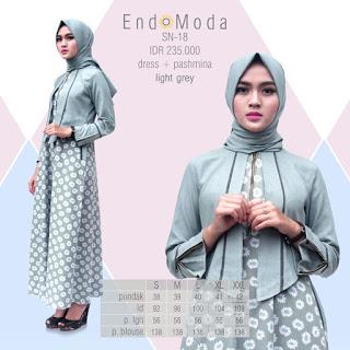 Koleksi Terbaru Gamis Dress Endomoda Sn 18