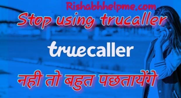 stop using TrueCaller