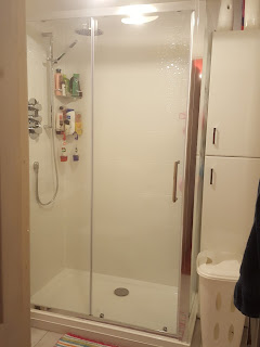 The Shower Unit in the New Bathroom
