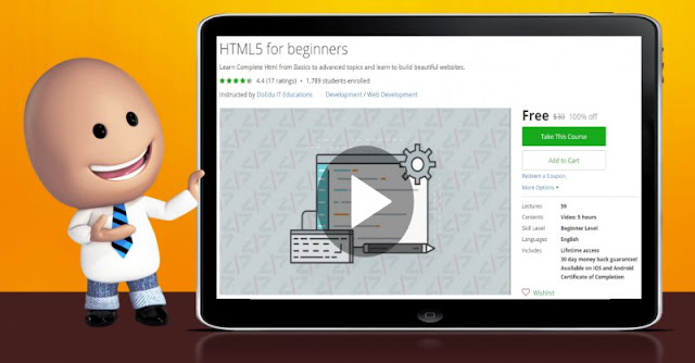 [100% Off] HTML5 for beginners| Worth 30$