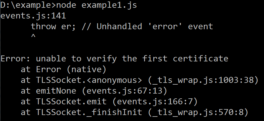 Coding Defined: [Solved] Error: unable to verify the first
