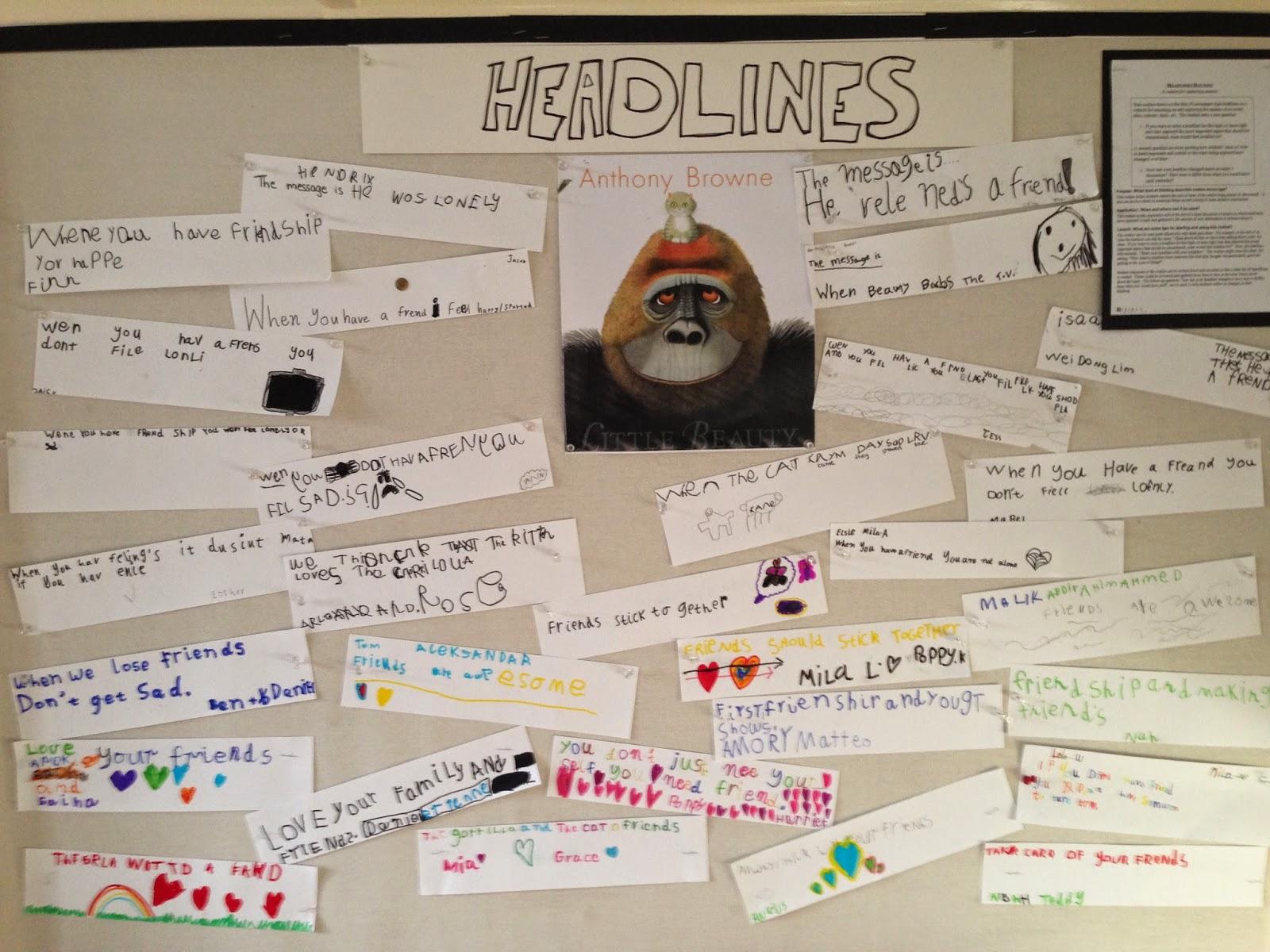 Phps Year 1 Blog Headlines Week 3