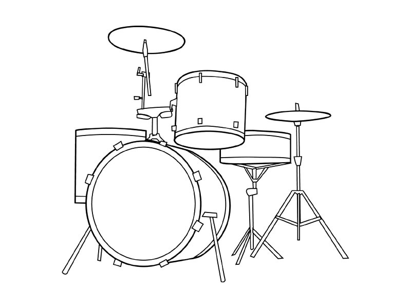 Nod Printable Coloring Page - Instruments for Musical Kiddos ... | 600x800