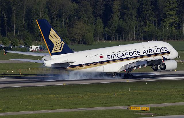 singapore a380 zurich airport