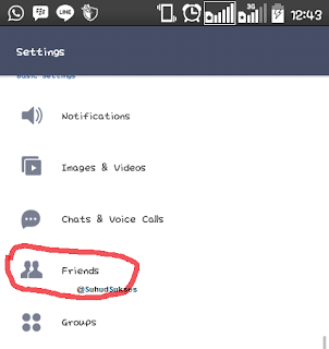 delete contact friends on LINE