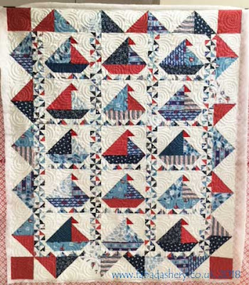 Sailing Boat quilt made by Jan