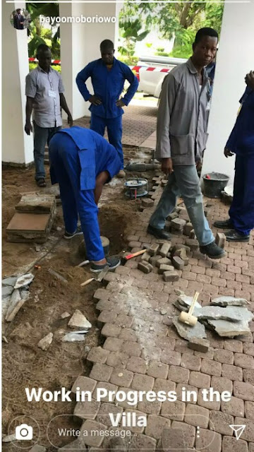 Real Cabal attack: See photos from the ongoing renovation at the Presidential Villa after Rats Damaged Buhari's office