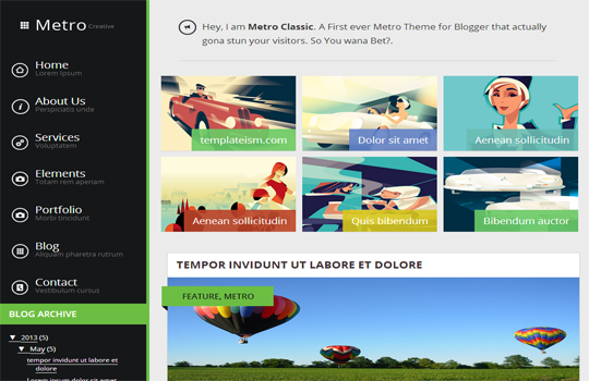 metro Top best premium blogger templates free