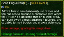 naruto castle defense 6.0 Solid Fog Jutsu detail
