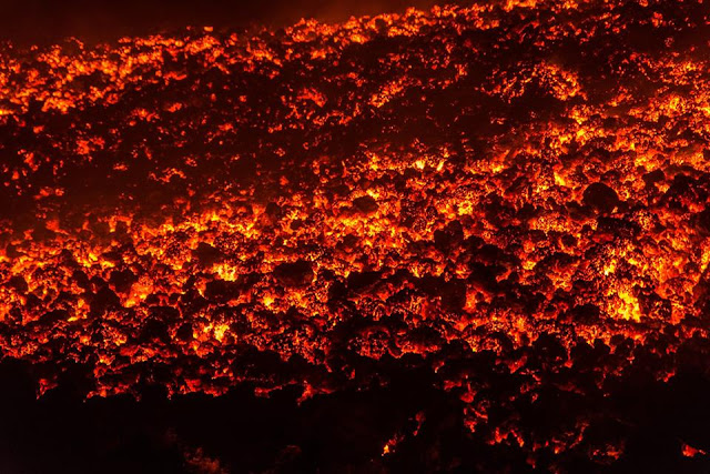 Mount Etna eruptions create river of fire